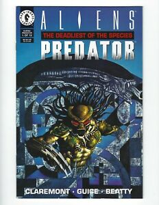 Aliens/Predator #1 The Deadliest of the Species 1993 Dark Horse comic 2 copy's