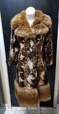 Vintage Lykafur Priscilla Modes Women's Faux Fur Dress Coat Made in England