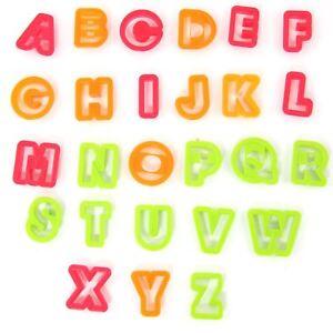 Set of Large Plastic Alphabet Cookie Cutters Upper Case Capitals Plastic Fondant