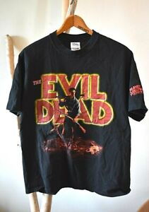 Vintage THE EVIL DEAD T-Shirt 2001 XL Excellent! Planet Hollywood Horror Series