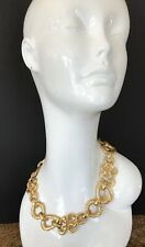 Vintage RUNWAY GIVENCHY CHUNKY Foil GOLD TONE CHOKER NECKLACE Gorgeous!