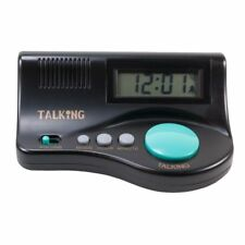 Talking Curve Alarm Clock with Large LCD Display and Clear Female Voice