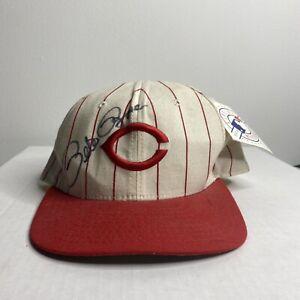 Vintage PETE ROSE SIGNED Auto CINCINNATI REDS NEW ERA Snapback Baseball Hat CAP