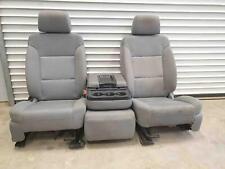 FRONT SEAT GMC SIERRA 1500 DARK ASH COLOR 2014-18 USED OEM