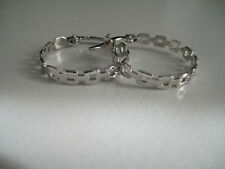 9ct white gold linked hoop earrings NEW IN HOT ARRIVAL