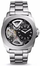 NEW !! SALE ! FOSSIL PRIVATEER SPORT AUTOMATIC SILVER TONE MEN WATCH BQ2209