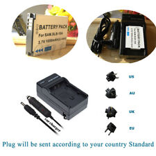 FJ-SLB-10A Battery +Charger for Silvercrest Action-Camcorder SCAA 5.00 A1