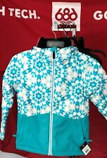 2020 NWT 686 Rumor Insulated Jacket Girls Youth Kids S Small Snowboard 10K B1a