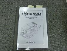 Magnum Model MMG125 Portable Diesel Generator Parts Catalog Manual Book
