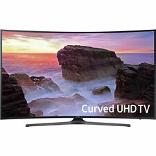 "Samsung 55"" Black Curved UHD 4K HDR LED Smart HDTV - UN55MU6500FXZA"