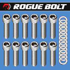Sbm Intake Manifold Bolts Stainless Kit Small Block Mopar Dodge 273 318 340 360