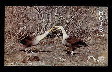 "QSL ""HCJB"" Radio Quito Waved Albatross Galapagos Shortwave DX SWL 1972"