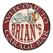 Cpbg-0020 Beer Brian'S Garage Bar Chic Tin Sign Man Cave Decor Gift Ideas