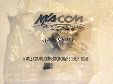 N MALE COAXIAL CONNECTOR STRAIGHT,CRIMP FOR RG-58