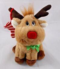 "Russ Ringle Reindeer Plush Musical Christmas Deer 8"" Wind Up"