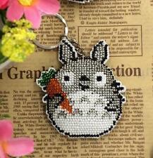 """Schlüsselanhänger aus Perlen """"Totoro"""", Stick- und Bastelpackung, komplett"""