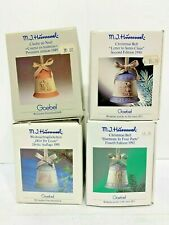 M.J. Hummel Goebel Series of Four (4) Christmas Bells 1989-1992