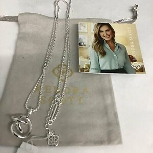 Kendra Scott Presleigh Love Knot Pendant Necklace in Bright Silver