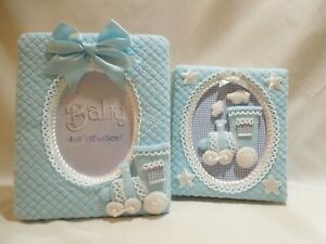Baby's Album Keepsake And Picture Frame-Blue