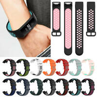 Breathable Sports Watch Band Silicone Strap Bracelet For Fitbit Charge 4/3/3 SE