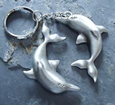Dolphin Set Pewter Key -Chain and Magnet
