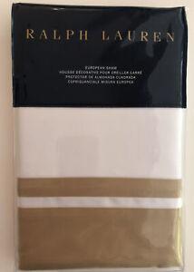 Ralph Lauren Home Bowery Polished Bronze Euro Pillow Sham retail $145