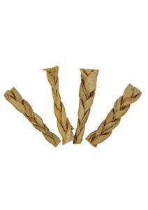 Braided Lamb Headskin Twists Sticks 100% Natural Air Dried Dog Treat Chews