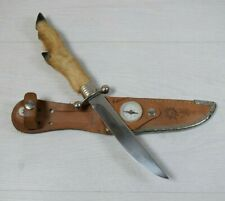 Vintage Collectible Decorative Custom Goat Leg Handle Hunting Knife With Sheath