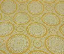 RICHLOOM KELTIC MIMOSA YELLOW GEOMETRIC OUTDOOR FURNITURE FABRIC BY THE YARD
