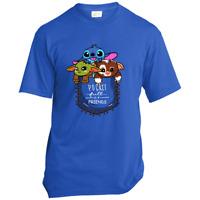 Pocket Full Of Friends, Baby Yoda, Stitch, Men's T-Shirt