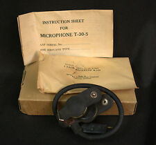 Vintage WWII U.S. Army Throat Microphone T-30-S