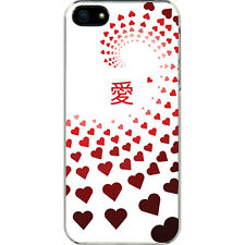 Valentine's Graduating Red Hearts Love in Chinese iPhone 6 Slim White Case Cover