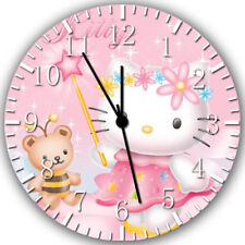 Hello Kitty Frameless Borderless Wall Clock Nice For Gifts or Decor W266
