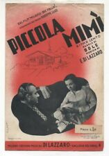 Spartito PICCOLA MIMI' 1942 Sheet Music Film Miliardi che follia