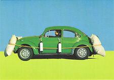"""VW Käfer mit """"Airbag"""" AK Volkswagen Airbag-Gag Ansichtkarte Postkarte Schweden"""