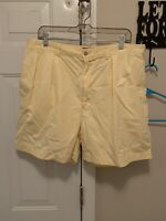 """POLO RALPH LAUREN Men's Andrew Shorts Pleated Yellow Shorts Size 38 - 6"""" Inseam"""
