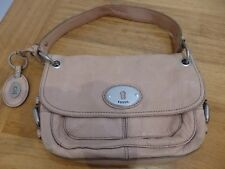 FOSSIL BEIGE NUDE COLOURED LEATHER BAG HANBAG SATCHEL GRAB