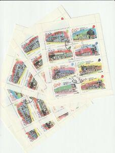 1974 Dhufar, Trains, СТО, 5 mini sheet