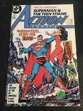 Action Comics#584 Incredible Condition 9.4(1987) Teen Titans Beatdown, 1st Byrne