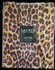 """RALPH LAUREN Leopard Cheetah Shower Curtain 72"""" x 72"""" 100% Cotton Fabric - NEW"""