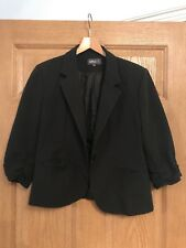 Apricot Cropped Black Blazer Work Party Size M Size 12