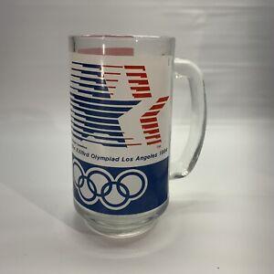 Olympics 1984 Los Angeles Vintage Cup Mug Glass