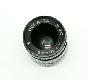 VEGA 2/20 Lens for Movie Camera Kiev-16 Alpha MFT Micro 4/3 BMPCC С-mount