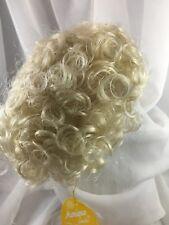 """11/12"""" Curly Pale Blonde Doll Wig Reborn OOAK BJD Ceramic Bisque Repair CHLOE"""