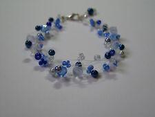 Bracelat Bleu roi marine clair cristal p robe de Mariée/Mariage/Soirée, perles