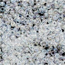 15/0 Transparent Rainbow Crystal TOHO Round Glass Seed Beads 10 grams #161