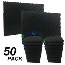 "2"" X 12"" X 12""  Acoustic Studio Soundproofing Egg Crate Foam Wall Tiles 50 Pack"
