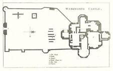 "1783 Antique Print PLAN OF ""WARKWORTH CASTLE NORTHUMBERLAND"" ALNWICK (R109)"