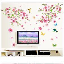 Large Cherry Blossom Flower Butterfly Tree Wall Sticker Art Decal Home Decor NE8