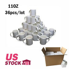 36pcslot Blank Sublimation Mugs 11oz Coated Mugs For Heat Press With Box